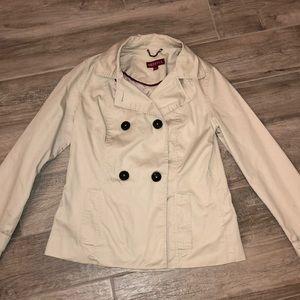 Khaki double breasted coat